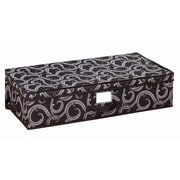 Laura Ashley Under Bed Polyester Storage Box, Marchmont Black