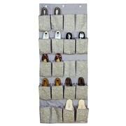 Laura Ashley 20 Pocket Polyester Over the Door Shoe Organizer, Fern