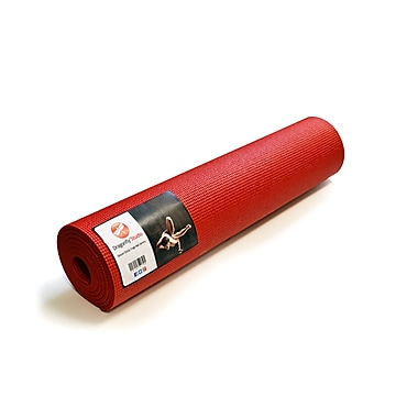 Dragonfly Yoga Studio Deluxe Sticky Yoga Mat, Red