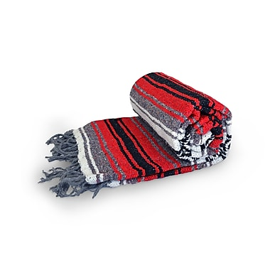Dragonfly Yoga Studio Mexican Cotton Blanket, Red