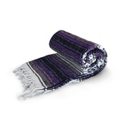 Dragonfly Yoga Studio Mexican Cotton Blanket, Purple