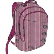 OGIO® SOHO Women's Polyester Backpack For 17 Laptops, Raspberry