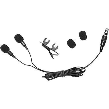 Pyle®Pro PLMSH45 Dual Electret Condenser Cardioid Lavalier Microphone, 2.2 kohm