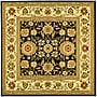 Safavieh Lyndhurst Collection Black and Ivory Square Area