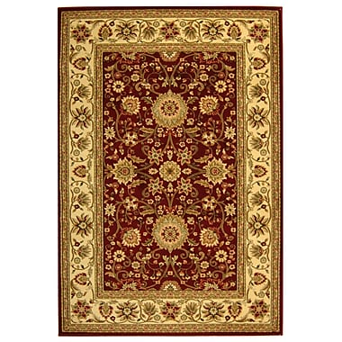 Safavieh Polypropylene Lyndhurst Collection Red & Ivory Area Rug