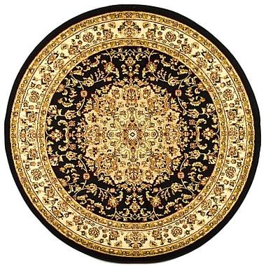 Safavieh Polypropylene Lyndhurst Collection Black & Ivory Round Area Rug 8'