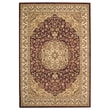Safavieh Lyndhurst Collection Red and Ivory Area Rug Polypropylene 6' x 9'