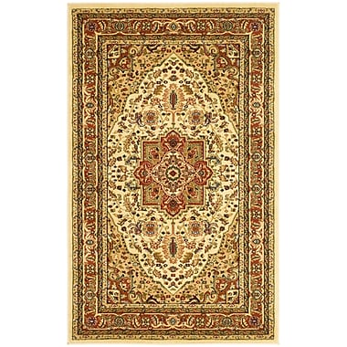 Safavieh Lyndhurst Collection Ivory and Rust Area Rug Polypropylene