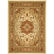 Safavieh Lyndhurst Collection Ivory and Rust Area Rug Polypropylene, 9' x 12'