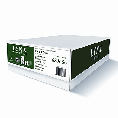 Domtar Lynx™ Opaque 160M 80 lbs. Digital Smooth Cover, 18