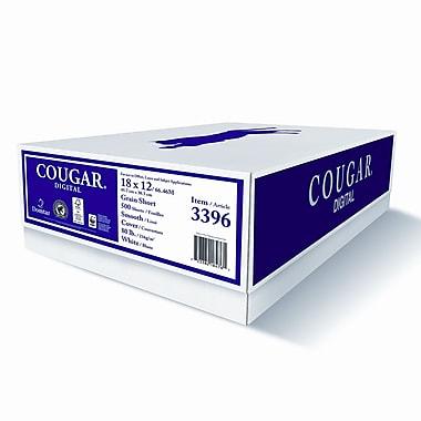 Domtar CougarMD – Papier couverture lisse Digital 160M, 80 lb, 18 x 12 po, blanc