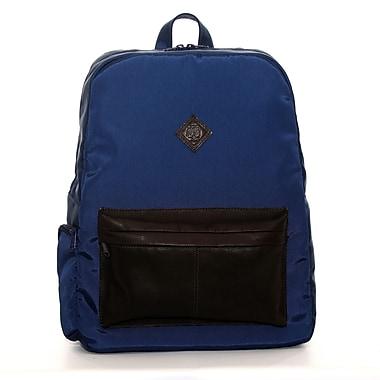 Jill-E Designs - Sac à dos en cuir Just Dupont pour portatif de jusqu'à 15 po, bleu