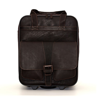 Jill-E Designs Jack Leather Large Rolling Camera Bag, Brown