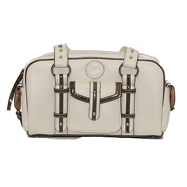 Jill-E Designs Leather DSLR Camera Bag, Small, Bone