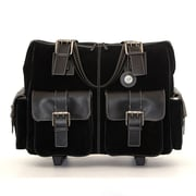 Jill-e Designs™ Leather Large Rolling Camera Bag, Black