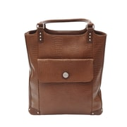 Jill-e Designs® 15 Leather Laptop Tote, Brown Croc