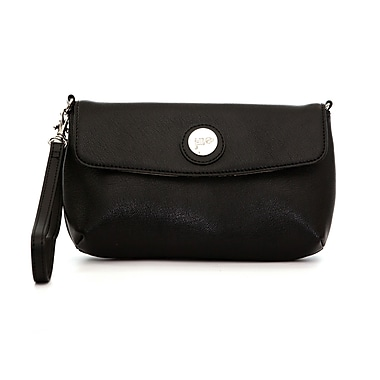 Jill-E Designs Leather Smartphone Wristlet, Black