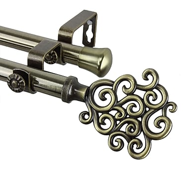 Rod Desyne Steel & Resin Tidal Double Curtain Rod, 28