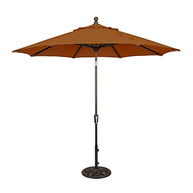 Blue Wave Catalina II 9' Octagonal Market Umbrella With Auto-Tilt, Terra Cotta Olefin