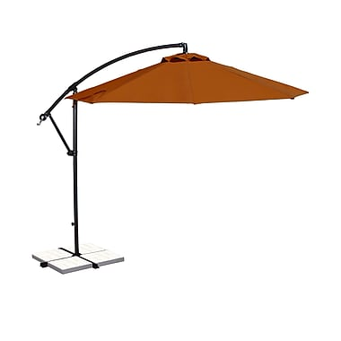 Blue Wave Santiago 10' Octagonal Cantilever Umbrella With Canopy Tilt, Terra Cotta Olefin