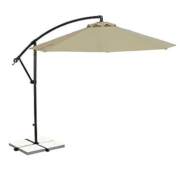 Blue Wave Santiago 10' Octagonal Cantilever Umbrella With Canopy Tilt, Beige Sunbrella Acrylic