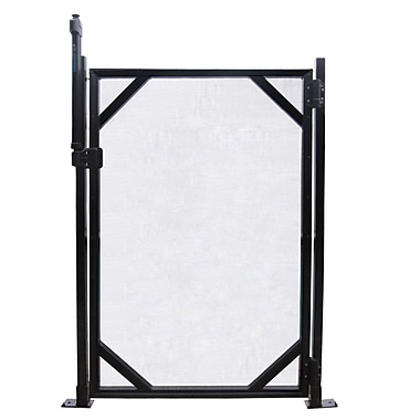 GLI 5' x 30' Safety Fence Gate For In-Ground Pools, Black