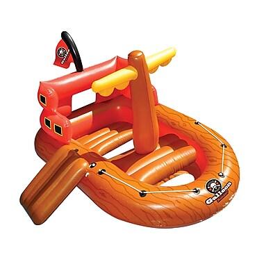 Swimline® Galleon Raider™ Pirate Ship Inflatable Pool Toy, Orange