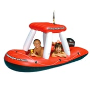 Swimline® Fire Boat Squirter 75 Inflatable Pool Toy, Red/Black