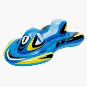 Blue Wave 5' Bladerunner Ride-On Inflatable Pool Toy, Blue/Yellow/Black/White