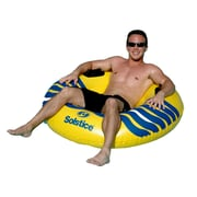 """Swimline® River Rough 48"""" Heavy Duty Inflatable Tube, Yellow/Blue"""