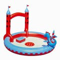 Bestway® Splash & Play™ Interactive Castle Inflatable Play Pool, Blue/Red