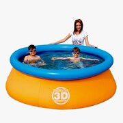 Bestway® Splash & Play™ Interactive 3D Adventure 7' Fast Set Family Pool, Orange