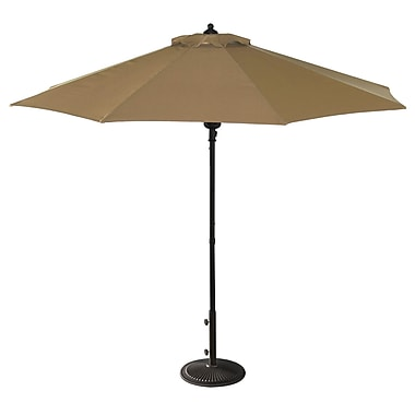 Blue Wave Catalina II 9' Octagonal Market Umbrella With Auto-Tilt, Stone Olefin