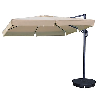Swim Time™ Santorini II 10' Square Cantilever Umbrellas With Valance