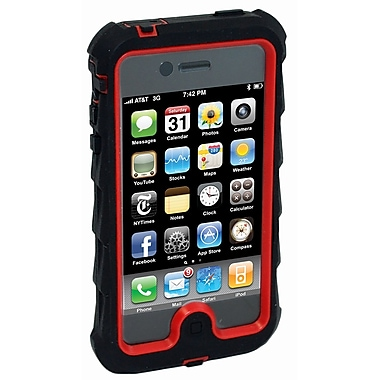 Gumdrop, Drop Tech Series iPhone 4, Black and Red