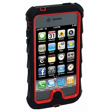 Gumdrop – Étui de protection Drop Tech pour iPhone 4, noir et rouge