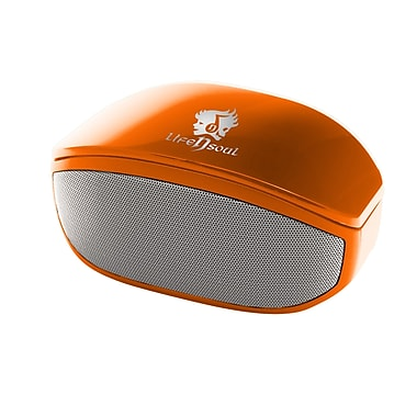 Life N Soul – Haut-parleur stéréo Bluetooth, orange