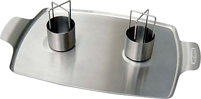 Man Law BBQ Stainless Steel Beer Can Double Chicken Roaster 1171507