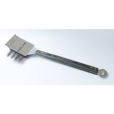 Man Law™ BBQ Stainless Steel Giant Grill Brush With Hardwood Handle and Bristles