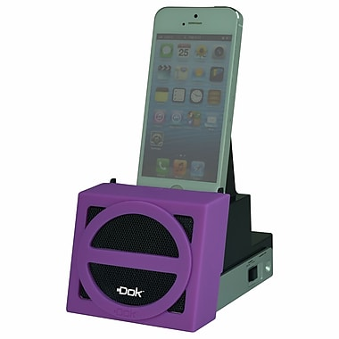 DOK™ Speaker Cradle With Rechargeable Battery, Purple