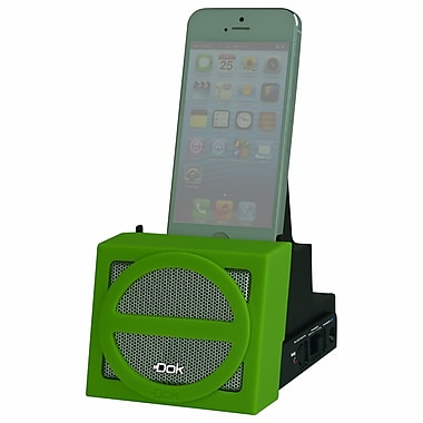 DOK™ Portable Universal Cradle With Speaker System (Bluetooth)/Rechargeable Battery, Green