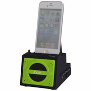DOK™ 2 Port Smart Phone Charger With Bluetooth Speaker/Speaker Phone/Rechargeable Battery, Green
