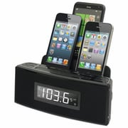 DOK™ 3 Port Smart Phone Charger With Speaker and Alarm Clock