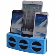 DOK™ 3 Port Smart Phone Charger With Speaker, Blue