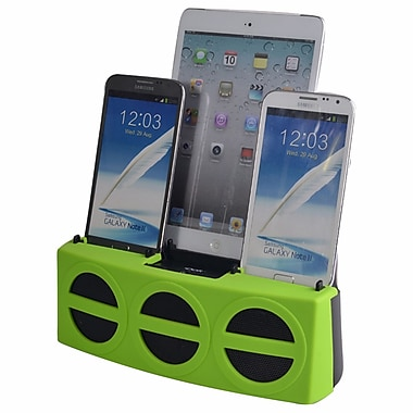 DOK™ 3 Port Smart Phone Charger With Speaker, Green