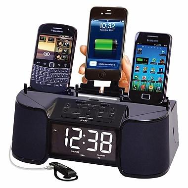 DOK™ 4 Port Smart Phone Charger With Speaker/Alarm/Clock/FM Radio