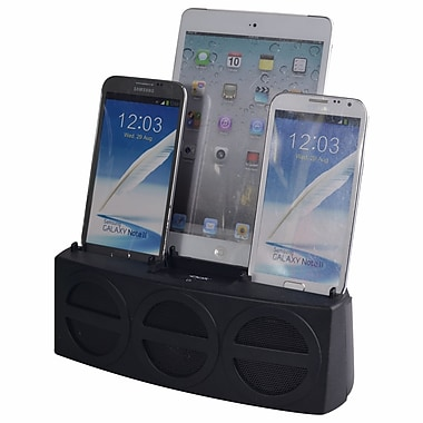 DOK™ 5 Port Smart Phone Charger With Bluetooth Speaker and Speaker Phone, Black