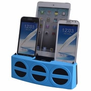 DOK™ 5 Port Smart Phone Charger With Bluetooth Speaker and Speaker Phone, Blue