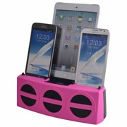 DOK™ 5 Port Smart Phone Charger With Bluetooth Speaker and Speaker Phone, Pink