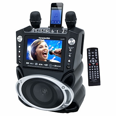 Karaoke USA GF830 DVD/CDG/MP3G Bluetooth Karaoke System With 7